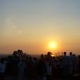 プノン・バケンの丘の夕日